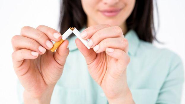 Deixe de fumar e esportes de jogo